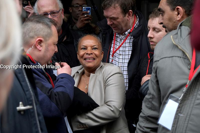 Christiane Taubira, investiture de BenoÓt Hamon a la presidentielle du Parti Socialiste (PS) a la mutualitÈ de Paris, le dimanche 5 fÈvrier 2017