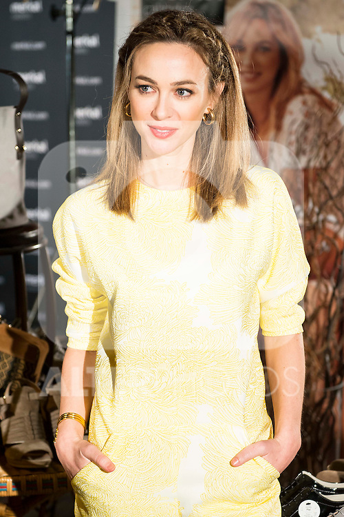 Spanish actress Marta Hazas is the ambassador of the new shoes collection for Spring-Summer of Merkal Calzados at  Luchana Teatros in Madrid, March 16, 2016. (ALTERPHOTOS/BorjaB.Hojas)