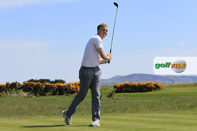 Thomas Mulligan (Co. Louth) on the 13th tee during Round 4 of the Flogas Irish Amateur Open Championship at Royal Dublin on Sunday 8th May 2016.<br />