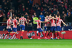 Players of Atletico de Madrid celebrate goal during La Liga match between Atletico de Madrid and Granada CF at Wanda Metropolitano Stadium in Madrid, Spain. February 08, 2020. (ALTERPHOTOS/A. Perez Meca)
