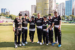 Players of New Zealand Kiwis  pose for a photo during Day 2 of Hong Kong Cricket World Sixes 2017 3rd Place playoff match between Australia vs New Zealand Kiwis at Kowloon Cricket Club on 29 October 2017, in Hong Kong, China. Photo by Yu Chun Christopher Wong / Power Sport Images