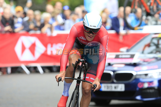 Matthias Brandle (AUT) in action during the Men Elite Individual Time Trial of the UCI World Championships 2019 running 54km from Northallerton to Harrogate, England. 25th September 2019.<br /> Picture: Eoin Clarke | Cyclefile<br /> <br /> All photos usage must carry mandatory copyright credit (© Cyclefile | Eoin Clarke)
