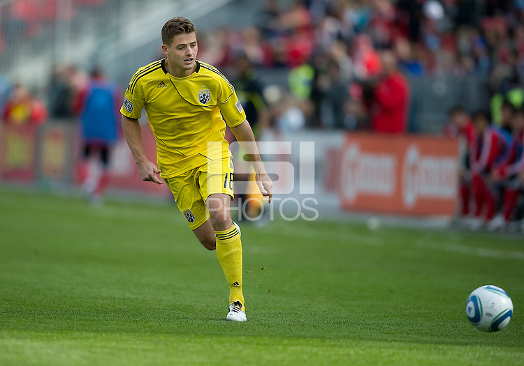 23 April 2011: Columbus Crew midfielder/forward Robbie Rogers #18 in action during a game between the Columbus Crew and the Toronto FC at BMO Field in Toronto, Ontario Canada..The game ended in a 1-1 draw.