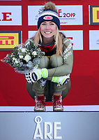 ARE,SWEDEN,05.FEB.19 - ALPINE SKIING - FIS Alpine World Ski Championships, Super G, ladies. Image shows Mikaela Shiffrin (USA) Gold <br /> <br /> Photo: GEPA pictures/ Mario Kneisl/Insidefoto <br />  <br /> ITALY ONLY