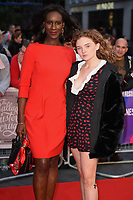"Moyo Akande and Becky Fiennes<br /> arriving for the London Film Festival screening of ""The Ballad of Buster Scruggs"" at the Cineworld Leicester Square, London<br /> <br /> ©Ash Knotek  D3438  12/10/2018"