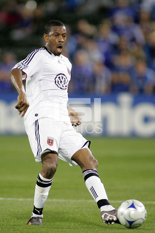 Avery John..Kansas City Wizards and DC United played to a 1-1 draw at Community America Ballpark, Kansas City, Kansas.