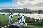 28th September 2017, Windross Farm, Auckland, New Zealand; LPGA McKayson NZ Womens Open, first round; The players walk on to the tee