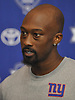 Tavarres King #15, New York Giants wide receiver, speaks with the media after practice at Quest Diagnostics Training Center in East Rutherford, NJ on Monday, Aug. 29, 2016.