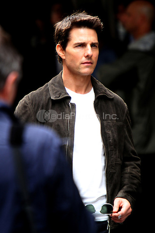 June 13, 2012 Tom Cruise shooting on location for his new film, 'Oblivion' at the Empire State Building in New York City. © RW/MediaPunch Inc.