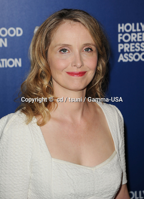 Julie Delpy arriving at the  Hollywood Foreign Press Association (HFPA) celebrated their annual luncheon at the Beverly Hilton Hotel, in Beverly Hills, CA