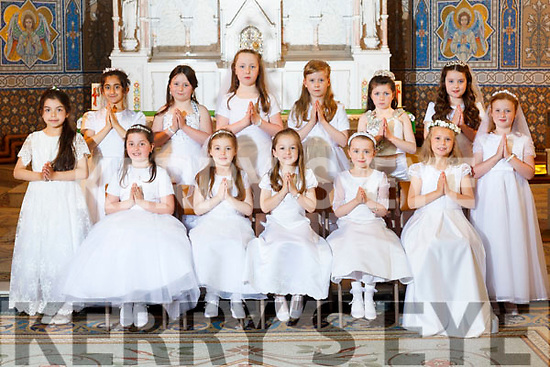 FIRST COMMUNION: The pupils of Ms Elaine Buckley's class at Presentation, Tralee NS who made their First Holy Communion at St John's Church, Tralee on Saturday