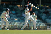 November 5th 2017, WACA Ground, Perth Australia; International cricket tour, Western Australia versus England, day 2; Clint Hinchliffe plays a square drive during his innings on day two
