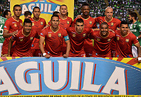 CALI - COLOMBIA -08-04 -2017: Los jugadores de Rionegro Aguilas, posan para una foto, durante partido de la fecha 12 entre Deportivo Cali y Rionegro Aguilas, por la Liga Aguila I-2017, jugado en el estadio Deportivo Cali (Palmaseca) de la ciudad de Cali. / The players of Rionegro Aguilas,pose for a photo, during a match of the date 12 between Deportivo Cali and Rionegro Aguilas, for the Liga Aguila I-2017 at the Deportivo Cali (Palmaseca) stadium in Cali city. Photo: VizzorImage  / Nelson Rios / Cont.