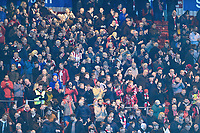 Lincoln City fans applaud their team at the final whistle<br /> <br /> Photographer Andrew Vaughan/CameraSport<br /> <br /> The EFL Sky Bet League Two - Lincoln City v Forest Green Rovers - Saturday 3rd November 2018 - Sincil Bank - Lincoln<br /> <br /> World Copyright © 2018 CameraSport. All rights reserved. 43 Linden Ave. Countesthorpe. Leicester. England. LE8 5PG - Tel: +44 (0) 116 277 4147 - admin@camerasport.com - www.camerasport.com