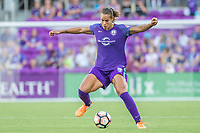 Orlando, FL - Sunday May 14, 2017: Toni Pressley during a regular season National Women's Soccer League (NWSL) match between the Orlando Pride and the North Carolina Courage at Orlando City Stadium.