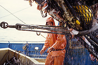 The F/V Progress, a dragger, also known as a trawler, fishes for pollock in the Bering Sea.
