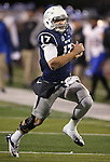 Nevada's quarterback Cody Fajardo (17) runs against San Jose State during the second half of an NCAA college football game in Reno, Nev., on Saturday, Nov. 16, 2013. (AP Photo/Cathleen Allison)