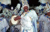 Samba dancers and carnival drummer, Rio de Janeiro, Brazil