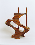 Staircase model, late 19th century; Signed by Ugen; Cherry; H x W x D: 54 x 53.3 x 27.9 cm (21 ¼ x 21 x 11in.); Gift of Eugene V. and Clare E. Thaw. Photo by Ali Elai © Smithsonian Institution