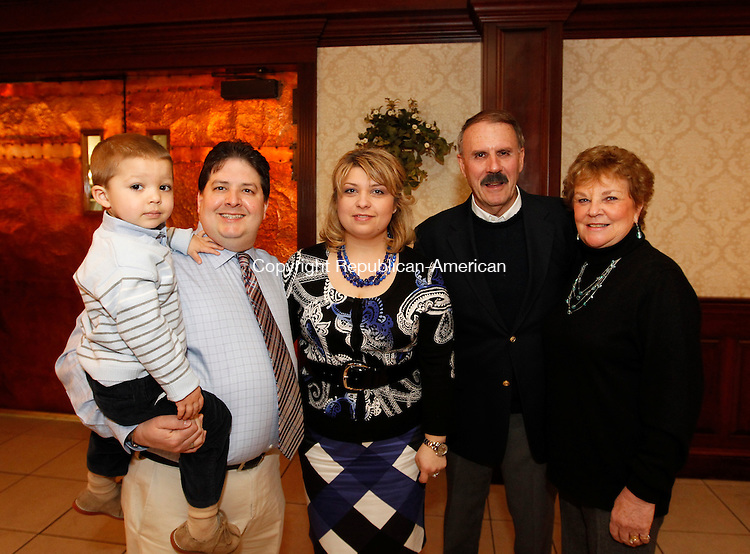 Southington, CT- 27, March 2011-032711CM09 SOCIAL MOMENTS Saint Vincent DePaul Banquet, L-R:  Alexander, 3, Dr. and Mrs. Tatiana Iadarola of Shelton and George and Peggy Havican, Prospect.   Christopher Massa Republican-American
