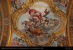 Ceiling Fresco detail 1st vault Right Nave Temperance Will Purity Paolo Albertoni 1679 San Carlo al Corso Rome