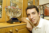 Sheffield born racing driver Justin Wilson pictured at family home in Sheffield