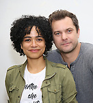"Lauren Ridloff and Joshua Jackson attend the cast photo call for the Broadway Revival of  ""Children of a Lesser God"" on February 22, 2018 at the Roundabout Rehearsal Studios in New York City."