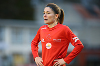 20191221 - WOLUWE: Woluwe's Lies Tambeurs is pictured during the Belgian Women's National Division 1 match between FC Femina WS Woluwe A and KAA Gent B on 21st December 2019 at State Fallon, Woluwe, Belgium. PHOTO: SPORTPIX.BE | SEVIL OKTEM