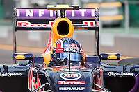 March 14, 2015: Daniil Kvyat (RUS) #26 from the Infiniti Red Bull Racing team leaves the pits for practise three at the 2015 Australian Formula One Grand Prix at Albert Park, Melbourne, Australia. Photo Sydney Low