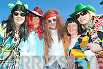 Happenin' hippies: Taking part in the St Patrick's Day parade in Listowel on Tuesday were Anna Lynch, Maria Cronin, Billy Fitzgibbon, Carmel Canavan and Claire Naughton.