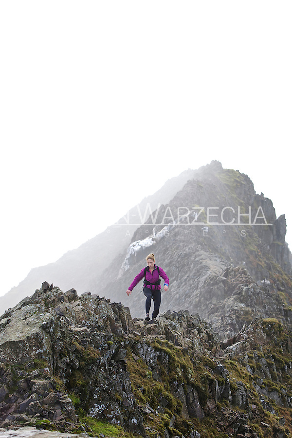 Sarah Ridgeway on her training run in the Snowdonia National Park, North Wales