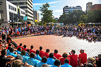 2019 Hamilton Sevens welcome at Garden Square in Hamilton, New Zealand on Friday, 25 January 2019. Photo: Dave Lintott / lintottphoto.co.nz