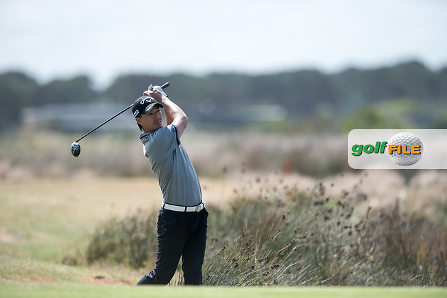 Ryo Ishikawa (JPN) during the 2nd round of the VIC Open, 13th Beech, Barwon Heads, Victoria, Australia. 08/02/2019.<br /> Picture Anthony Powter / Golffile.ie<br /> <br /> All photo usage must carry mandatory copyright credit (&copy; Golffile | Anthony Powter)