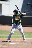 Mike Papi (38) of the Lynchburg Hillcats at bat against the Winston-Salem Dash at BB&T Ballpark on August 2, 2015 in Winston-Salem, North Carolina.  The Hillcats defeated the Dash 8-3.  (Brian Westerholt/Four Seam Images)