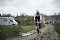 Boy Van Poppel (NLD/Trek-Segafredo) during recon of the 114th Paris - Roubaix 2016