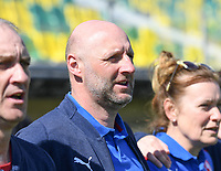 20190301 - LARNACA , CYPRUS : Czech head coach Karel Rada pictured during a women's soccer game between Finland and Czech Republic , on Friday 1 March 2019 at the AEK Arena in Larnaca , Cyprus . This is the second game in group A for Both teams during the Cyprus Womens Cup 2019 , a prestigious women soccer tournament as a preparation on the Uefa Women's Euro 2021 qualification duels. PHOTO SPORTPIX.BE | DAVID CATRY