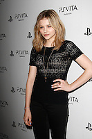 LOS ANGELES, CA - FEB 15: Chloe Grace Moretz at the Sony PlayStationAE Unveils PS VITA Portable Entertainment System at Siren Studios on February 15, 2012 in Los Angeles, California