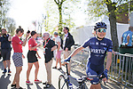 Christina Malling Siggaard (DEN) Team Virtu Cycling at the Team presentation of La Fleche Wallonne Femmes 2018 running 118.5km from Huy to Huy, Belgium. 17/04/2018.<br /> Picture: ASO/Thomas Maheux | Cyclefile.<br /> <br /> All photos usage must carry mandatory copyright credit (&copy; Cyclefile | ASO/Thomas Maheux)