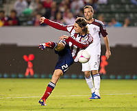 CARSON, CA - October 20, 2012: Chivas USA midfielder Ben Zemanski (21) during the Chivas USA vs Colorado Rapids match at the Home Depot Center in Carson, California. Final score, Chivas USA 0, Colorado Rapids 2.