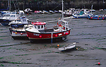 AE2KY1 Porthleven harbour low tide Cornwall England