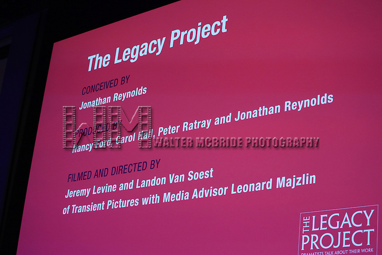 attends The Dramatists Guild Fund presents 'The Legacy Project: Volume III' screening  at The Time Center on December 3, 2016 in New York City.
