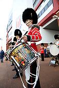 4th November 2017, bet365 Stadium, Stoke-on-Trent, England; EPL Premier League football, Stoke City versus Leicester City; Grenadier Guards playing outside the Stoke City stadium
