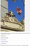 STATUE OF MERCURY TOP OF GRAND CENTRAL STATION NYC NY AMERICAN FLAG