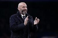 Ex Chelsea and Italian International, Gianluca Vialli applauds the fans at half-time during Chelsea vs West Bromwich Albion, Premier League Football at Stamford Bridge on 12th February 2018