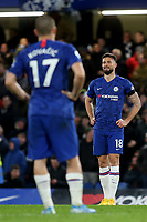 Olivier Giroud of Chelsea reacts after his goal was disallowed by VAR during Chelsea vs Manchester United, Premier League Football at Stamford Bridge on 17th February 2020