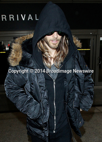 Pictured: Jared Leto<br /> Mandatory Credit &copy; CALA/Broadimage<br /> Jared Leto arriving at the Los Angeles International Airport<br /> <br /> 2/27/14, Los Angeles, California, United States of America<br /> <br /> Broadimage Newswire<br /> Los Angeles 1+  (310) 301-1027<br /> New York      1+  (646) 827-9134<br /> sales@broadimage.com<br /> http://www.broadimage.com