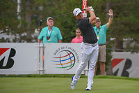 Alex Noren (SWE) watches his tee shot on 13 during 1st round of the World Golf Championships - Bridgestone Invitational, at the Firestone Country Club, Akron, Ohio. 8/2/2018.<br /> Picture: Golffile | Ken Murray<br /> <br /> <br /> All photo usage must carry mandatory copyright credit (&copy; Golffile | Ken Murray)