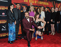 NEW YORK, NEW YORK - APRIL 09: David Harbour, Milla Jovovich, Daniel Dae Kim, Sasha Lane, Penelope Mitchell and guests  attend the 'Hellboy' New York Screening at AMC Lincoln Square Theater on April 09, 2019 in New York City.  <br /> CAP/MPI/JP<br /> ©JP/MPI/Capital Pictures