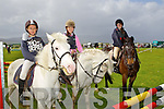 Darragh Chawke, Ballymac, Meabh Healy, Killarney and Jessica O'Leary, Ballyhar at the Kingdom County Fair at Ballybeggan on Sunday.