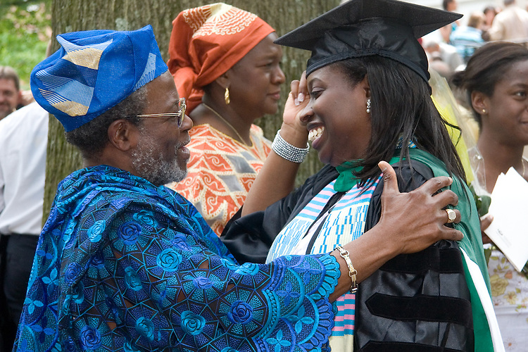 Aderonke Oninku, D. O. is congratulated after Saturday's ceremony.